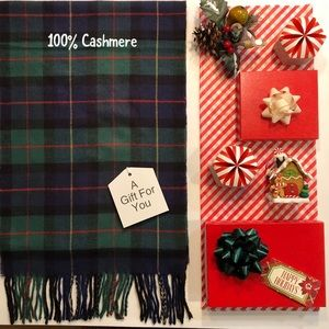 100% Cashmere Scarf Made in Scotland